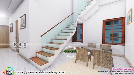 stair room interior rendering