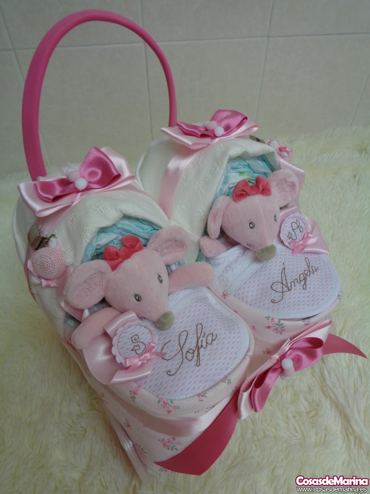 4810f5006573 CosasdeMarina | Regalos con pañales, detalles para bebes: Cochecito ...
