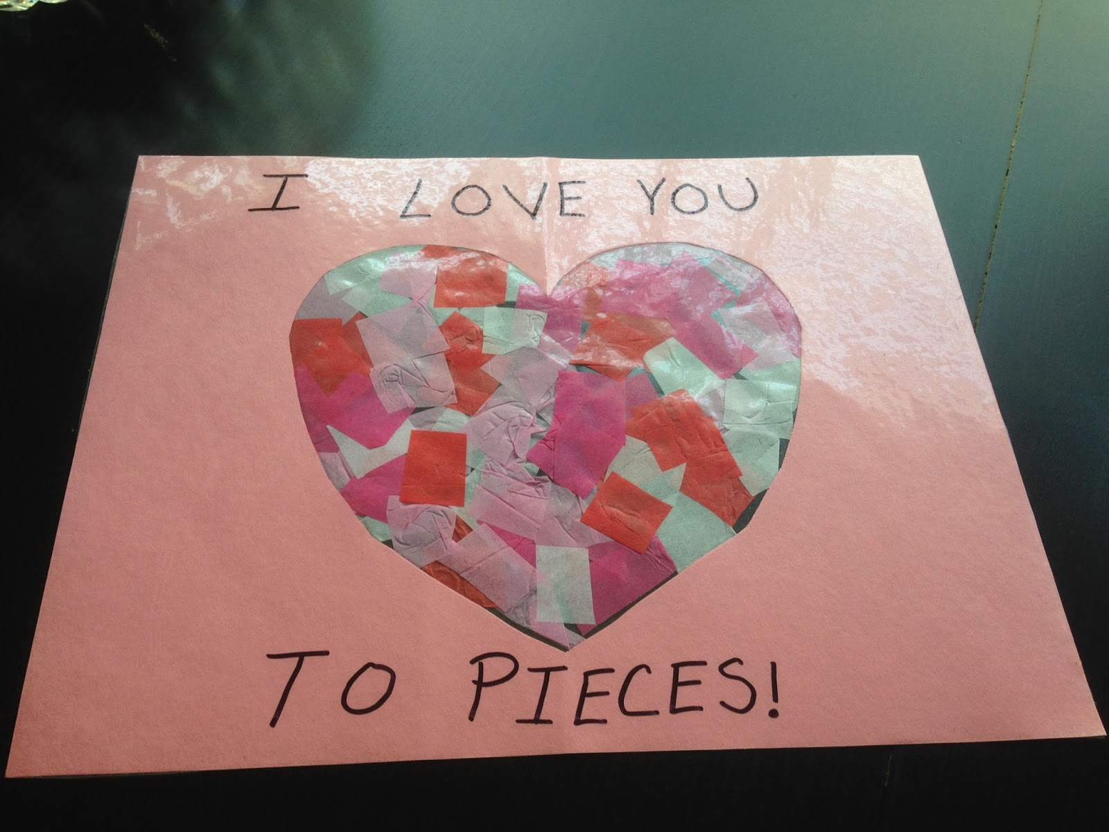 Party Of 5 I Love You To Pieces Stained Glass Valentine