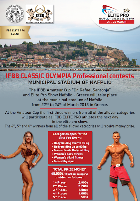 IFBB Classic Olympia, μια κορυφαία διοργάνωση έρχεται στο Ναύπλιο!