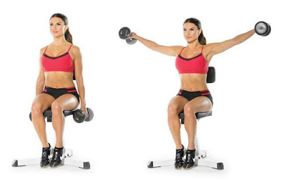 Bài tập seated dumbbell press