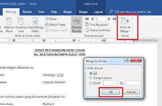 Cara Membuat Mail Merge (Mailing) Di Word 8