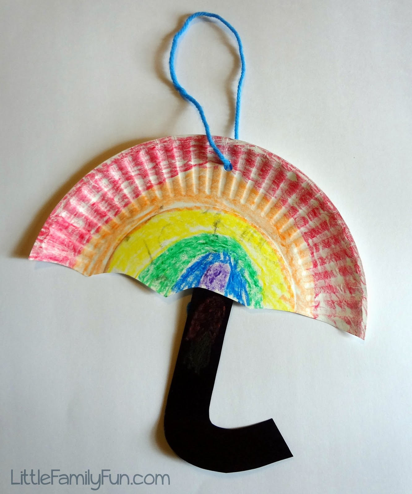 Paper Plate Umbrellas Spring Craft For Kids