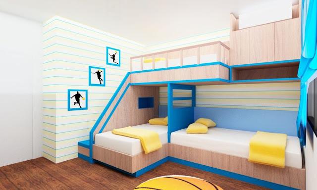 غرف اطفال ولاد متعددة السراير