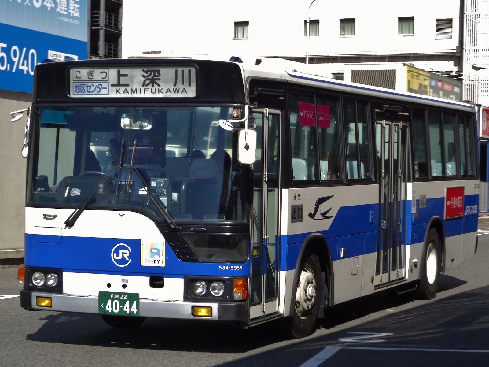 広島のバス: 中国JRバス 広島22...