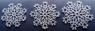 trzy śnieżynki Iwony