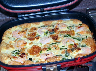 korean happy call pan wakame prawn omelette recipe