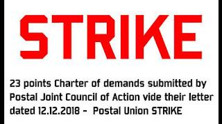 Postal Union Strike 2 days-Demands-Cg-Employees