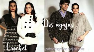 Vestido Crochet y Abrigos en Dos Agujas para toda la Familia / Paso a paso