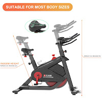 Adjustable seat & handlebars on SNODE 8722 & 8731 Indoor Cycling Bike, image