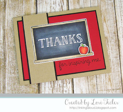 Thanks for Inspiring Me card-designed by Lori Tecler/Inking Aloud-stamps and dies from Lawn Fawn