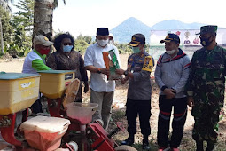 Forkopimda Halmahera Barat Gelar Penanaman Padi Sawah Kering dan Jagung di Gomomeng