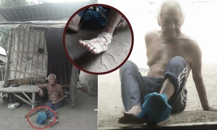 Mirisnya Hidup Kakek di Blitar Ini,Mulai Hidup Dalam Gubuk Numpang Hingga Bergantung Atas Belas Kasihan Orang