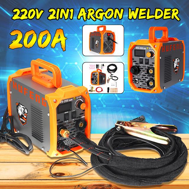Gas Welder Mini WS-200 Welding Machine Gas Gasless Welder 220V Argon Welder Welding Machine 2 in 1