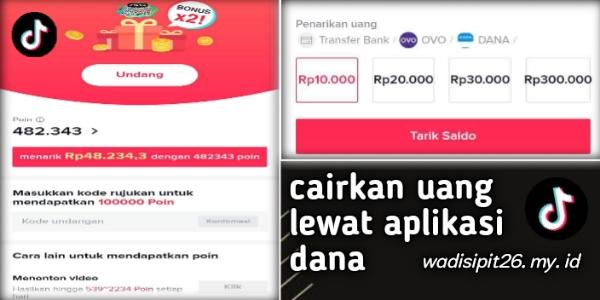 Cara tarik saldo uang dari tiktok lite dengan mudah dan cepat cairkan lewat rekening ovo dan aplikasi dana