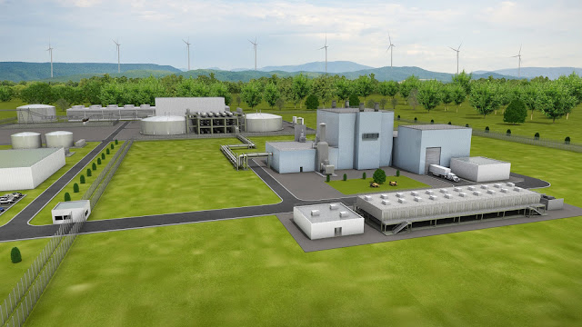 Image Attribute: Artist's rendering of the Natrium™ reactor and energy system, a sodium fast reactor paired with a molten salt system for heat storage and re-use. Source: TerraPower