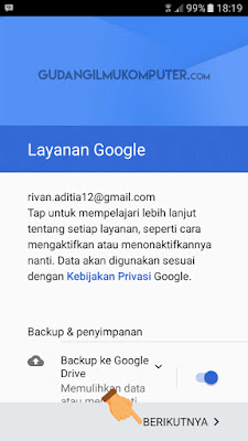 Cara Masuk Gmail di Smartphone Android
