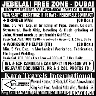 jebel ali free zone jobs in dubai
