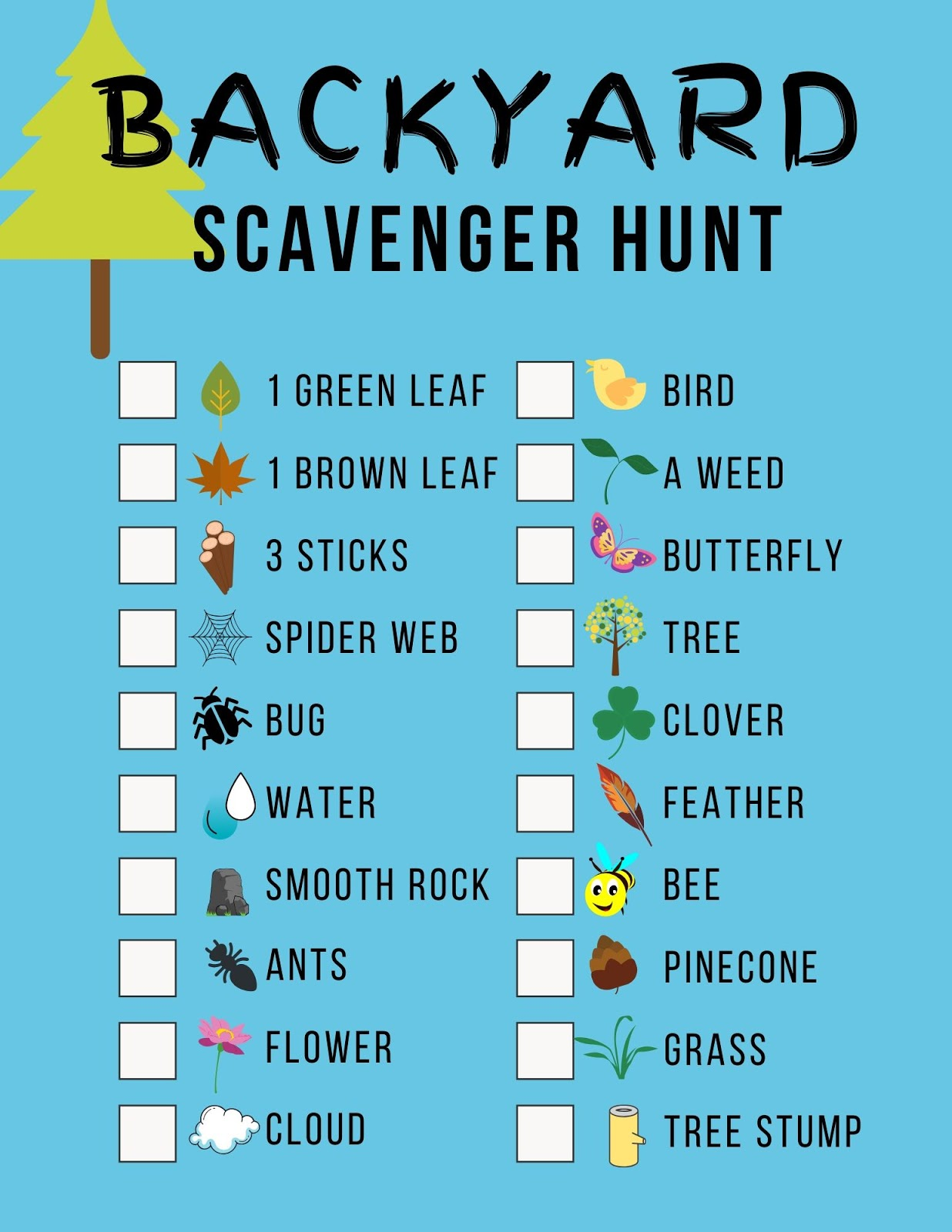 Backyard Scavenger Hunt (with Printable!)   Olive and Tate