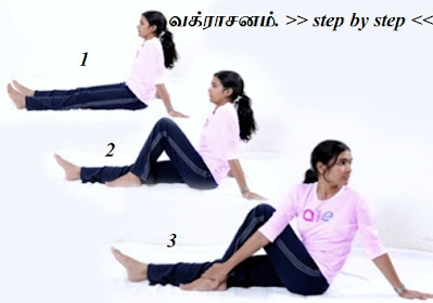 Vakrasanam step by step