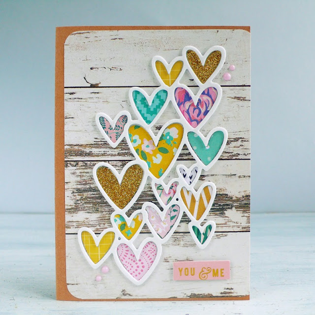 Cardmaking- Card San Valentino - Scattered Hearts