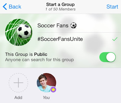 KIK Start your Public Group