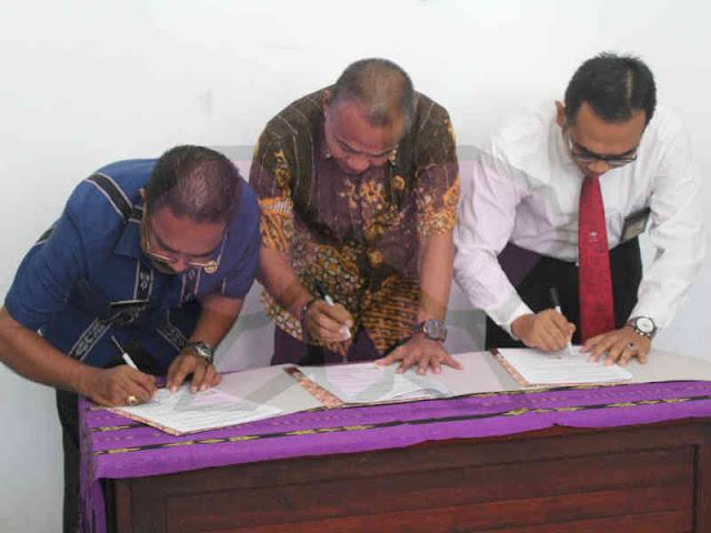 Bapenda Tanimbar, KP2KP Saumlaki dan Kantor Pertanahan Tanimbar MoU Rekonsiliasi Data Pembayaran Hak Atas Tanah dan Bangunan