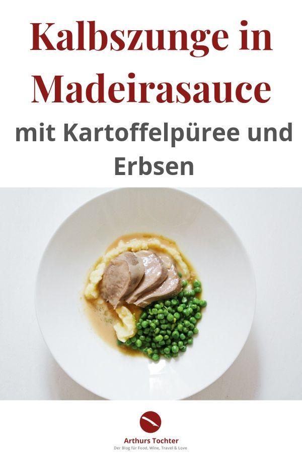Klassische Kalbszunge in Madeira-Sauce mit Erbsen und Kartoffelpüree mit ungepökelter Zunge! #innereien #zunge #kalbszunge #rinderzunge #pochiert #gekocht #klassisch #madeira #sauce #gepökelt #nicht #kartoffelpüree #erbsen #saucen #einfach #rezept #foodblog #foodphotography #foodstyling #lecker #weihnachten #festlich #ostern #muttertag #nieren #leber #kalbfleisch #arthurstochter #nosetotail