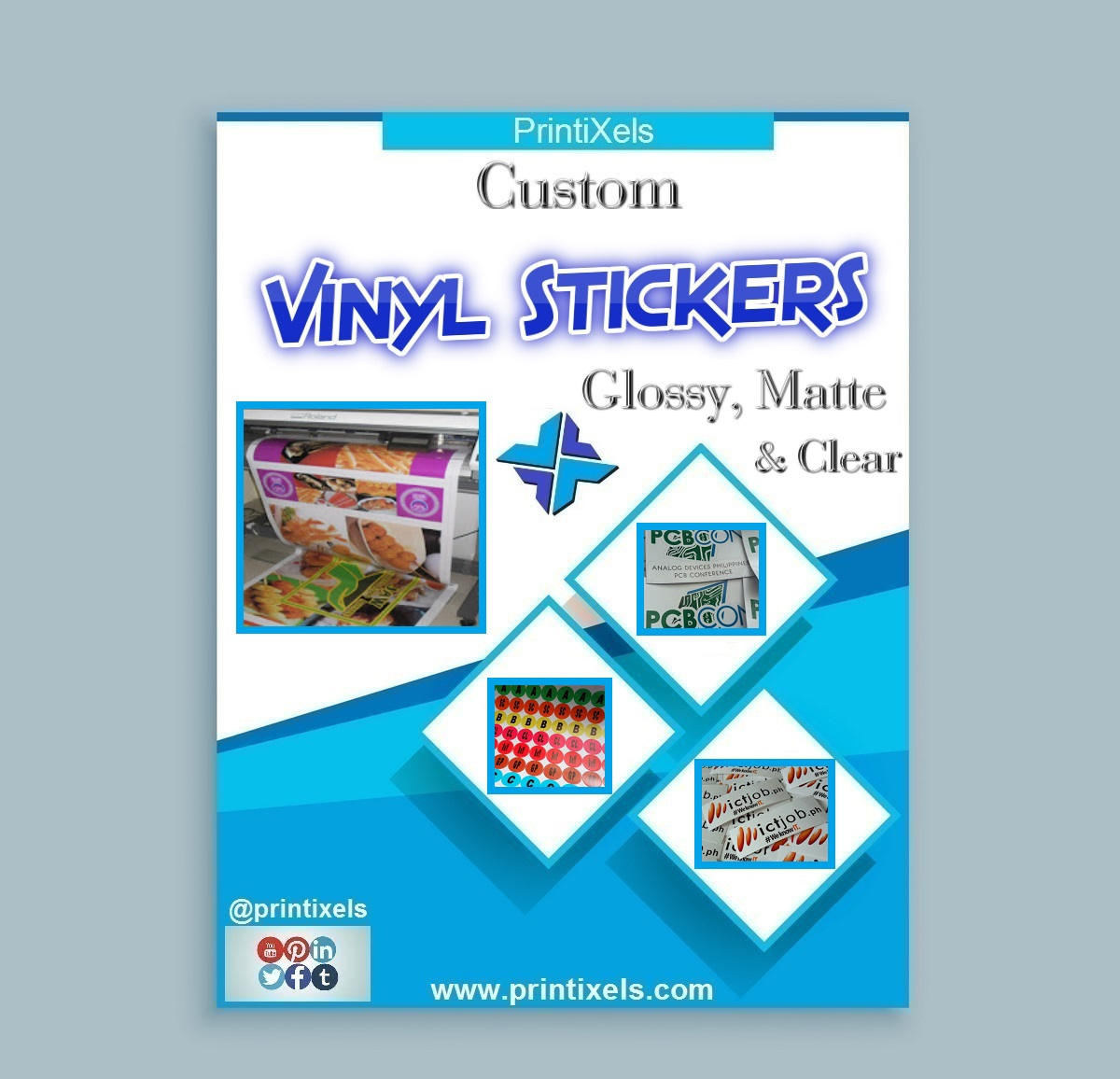 Custom Vinyl Stickers - Glossy, Matte & Clear Labels & Decals