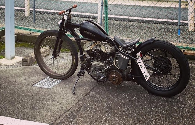 Harley Davidson Flathead By Matsumoto Hell Kustom