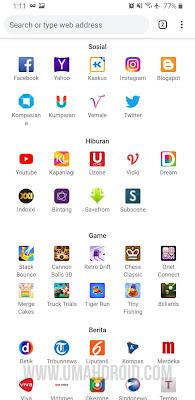 Top Sites Google Chrome Mobile