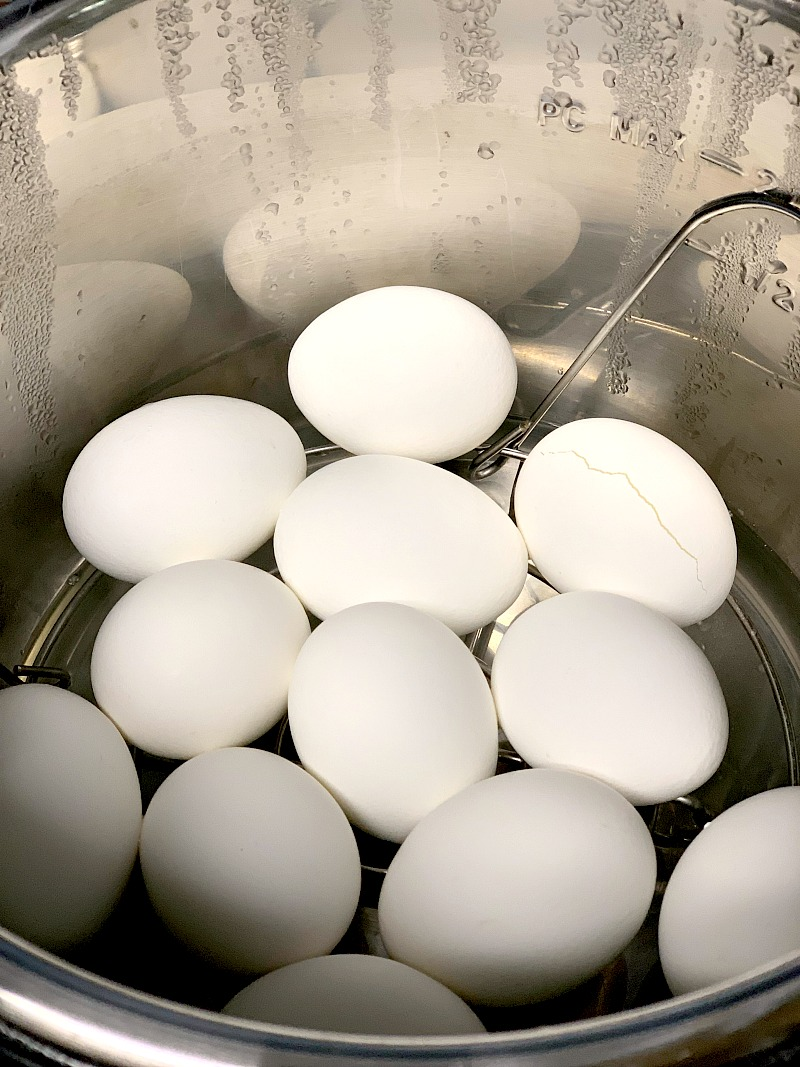 Perfect every time, these Instant Pot Hard Boiled Eggs so simple to make, easy to peel, and the ONLY way I make hard boiled eggs! #howto #instantpot #hardboiledeggs #eggs #keto #lowcarb #easy #recipe | bobbiskozykitchen.com