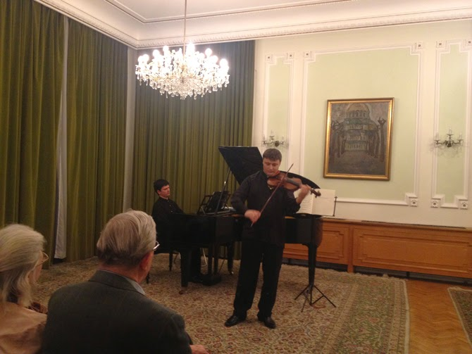 Ivo and Lachezar Stankov performing at the Bulgarian Embassy