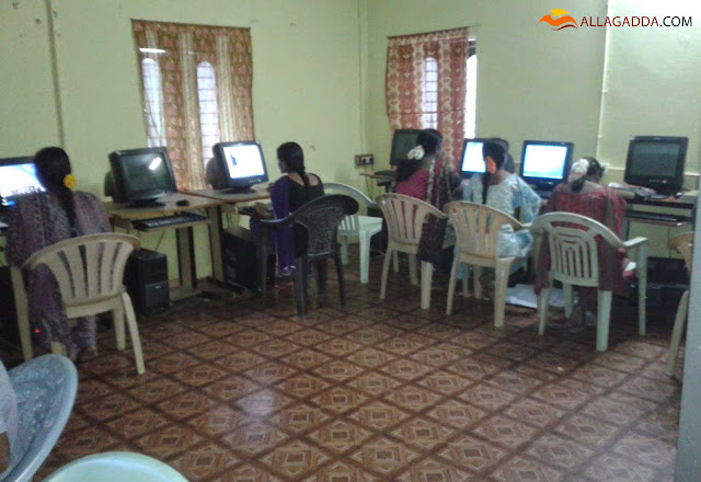 Students from KV Subba Reddy Degree college utilizing their computer department in the college