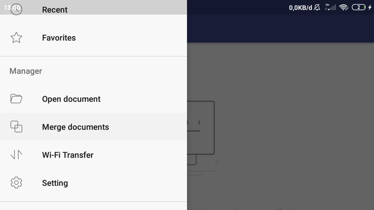 Pilih Menu Merge Documents pada PDF Element