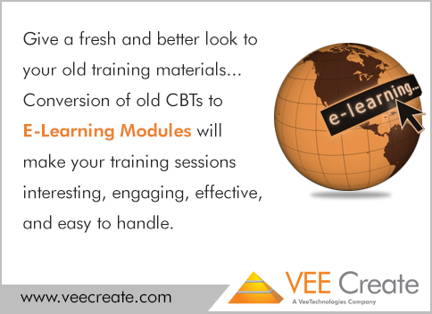 Conversion of old CBTs to E-Learning Modules - Vee Create