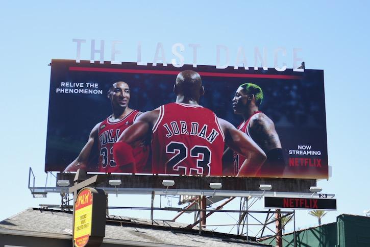 Michael Jordan Last Dance Netflix billboard