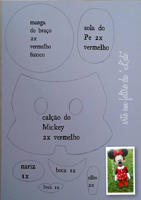 Molde Mickey e Minnie