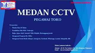 Pegawai Toko di Medan CCTV