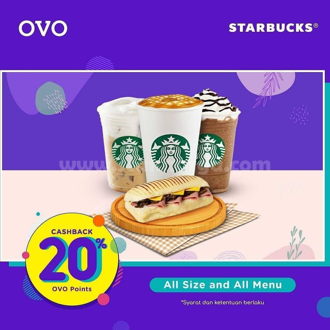 STARBUCKS Promo Cashback 20% + Buy 1 Get 1 pakai OVO 2