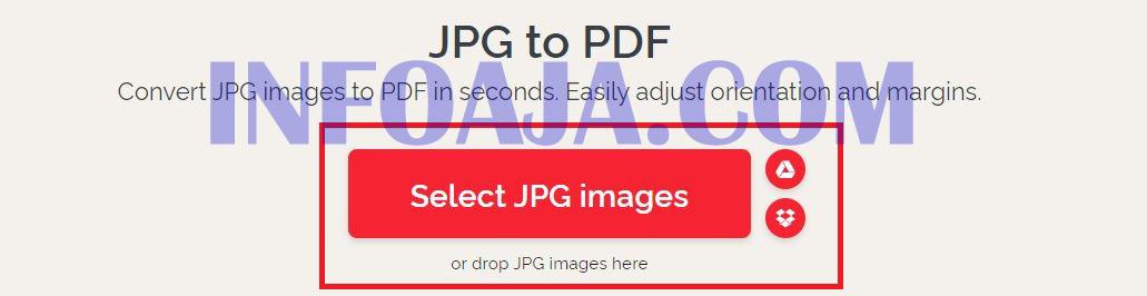 Merubah File JPG ke PDF dari ilove pdf