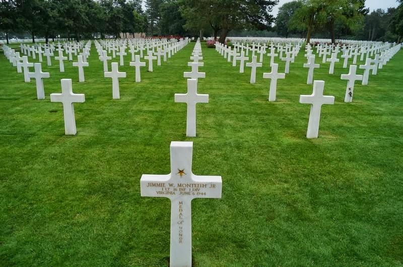 cementerio de Coleville-sur-mer, cementerio cruces blancas, cementerio americano de las cruces, cementerio americano en Normandia, medal of honour, medalla de honor