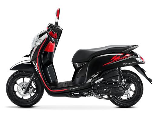 Honda Scoopy eSP warna Sporty black