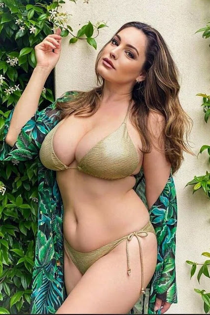 busty celebrity hot curves in sexy bikini