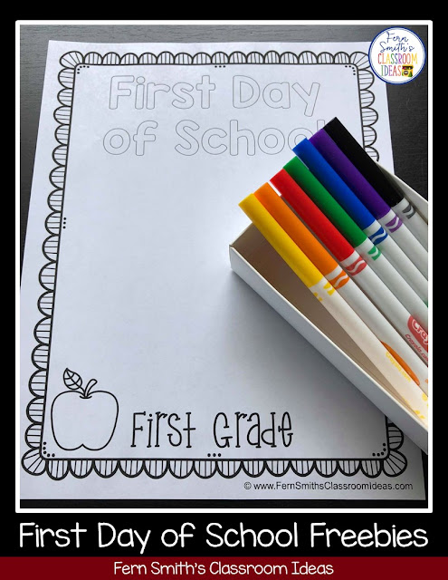 Free Back to School First Day of School and Last Day of School Coloring Pages for grades Pre-K to Fifth Grade from Fern Smith at #FernSmithsClassroomIdeas
