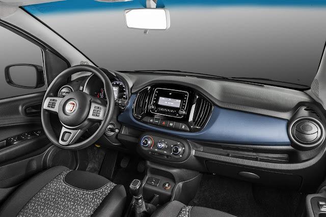 Novo Fiat Uno Drive Flex 2018 - interior