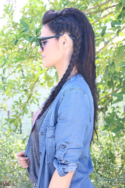 full length braids for long hair
