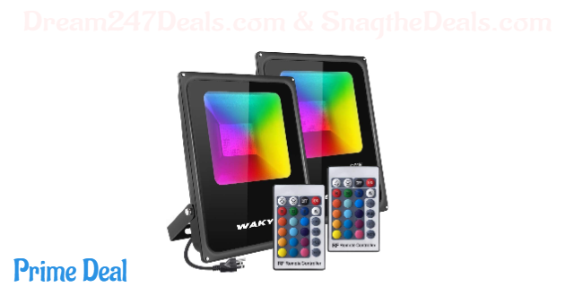 45% off 60W RGB flood light 2 sets