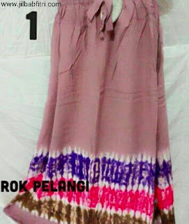 rok batik panjang motif pelangi bahan rayon