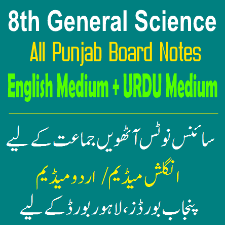 Easy Notes Publishers 8th Class Science Notes In PDF Download